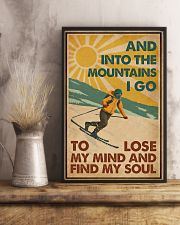 And Into The Mountains I Go Skiing 16x24 Poster lifestyle-poster-3