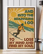 And Into The Mountains I Go Skiing 16x24 Poster lifestyle-poster-4