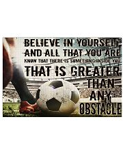 Soccer Believe In Yourself 17x11 Poster front