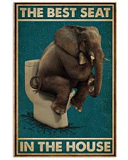 Retro Green Toilet Thinking Elephant Best Seat 16x24 Poster front
