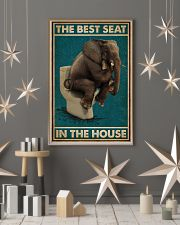 Retro Green Toilet Thinking Elephant Best Seat 16x24 Poster lifestyle-holiday-poster-1