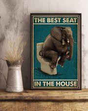 Retro Green Toilet Thinking Elephant Best Seat 16x24 Poster lifestyle-poster-3