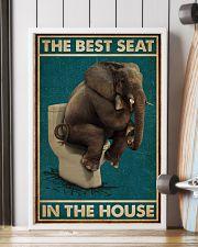 Retro Green Toilet Thinking Elephant Best Seat 16x24 Poster lifestyle-poster-4