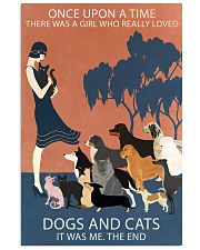 Vintage Girl Once Upon A Time Dog And Cat 11x17 Poster front