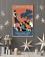 Vintage Girl Once Upon A Time Dog And Cat 11x17 Poster lifestyle-holiday-poster-1