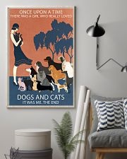 Vintage Girl Once Upon A Time Dog And Cat 11x17 Poster lifestyle-poster-1