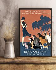 Vintage Girl Once Upon A Time Dog And Cat 11x17 Poster lifestyle-poster-3