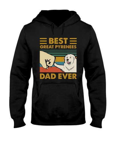 Retro Blue Best Great Pyrenees Dad Ever