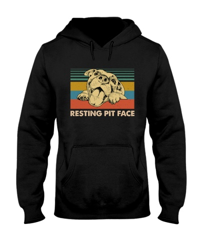 Resting Pit Face Pitpull Retro Blue
