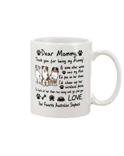 Australian Shepherd Thank You For Being My Mom