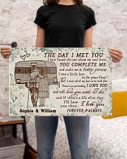 Personalized Camping Floral The Day I Met 24x16 Poster poster-landscape-24x16-lifestyle-20