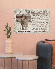 Personalized Camping Floral The Day I Met 24x16 Poster poster-landscape-24x16-lifestyle-22