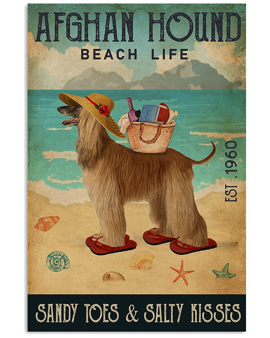 Beach Life Sandy Toes Afghan Hound 11x17 Poster