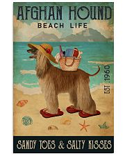 Beach Life Sandy Toes Afghan Hound 11x17 Poster front