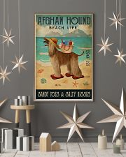 Beach Life Sandy Toes Afghan Hound 11x17 Poster lifestyle-holiday-poster-1