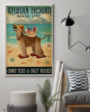 Beach Life Sandy Toes Afghan Hound 11x17 Poster lifestyle-poster-1