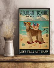 Beach Life Sandy Toes Afghan Hound 11x17 Poster lifestyle-poster-3