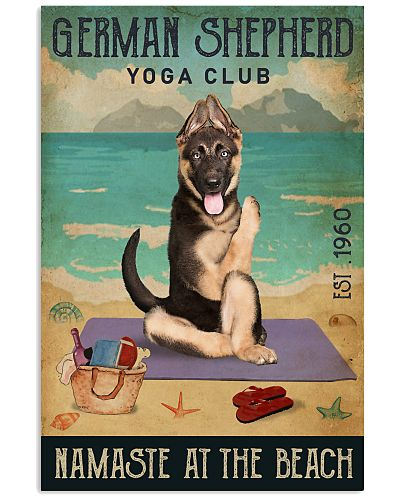 Beach Yoga Club German Shepherd