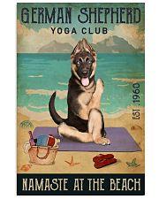 Beach Yoga Club German Shepherd 11x17 Poster front