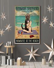Beach Yoga Club German Shepherd 11x17 Poster lifestyle-holiday-poster-1