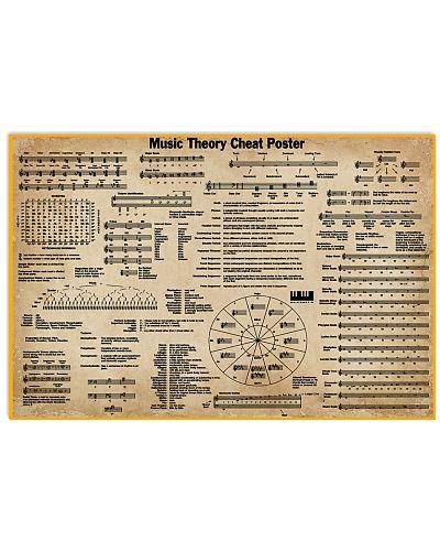 Music Theory Cheat Poster