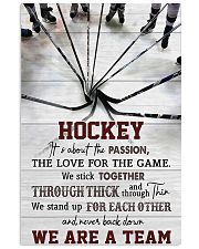 Hockey We Are A Team 11x17 Poster front