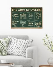 Retro Green The Laws Of Cycling 24x16 Poster poster-landscape-24x16-lifestyle-01