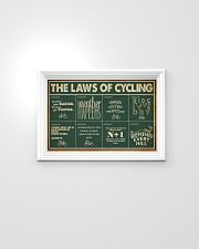 Retro Green The Laws Of Cycling 24x16 Poster poster-landscape-24x16-lifestyle-02