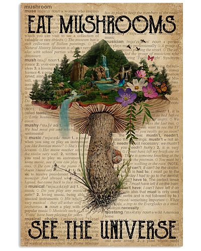 Vintage Dictionary Eat Mushroom See The Universe