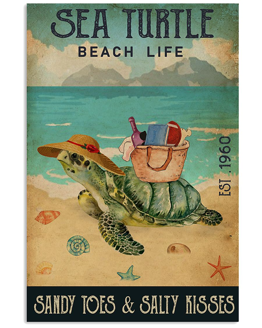 Beach Life Sandy Toes Sea Turtle 11x17 Poster