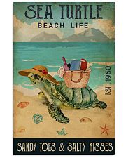 Beach Life Sandy Toes Sea Turtle 11x17 Poster front