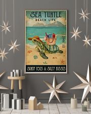 Beach Life Sandy Toes Sea Turtle 11x17 Poster lifestyle-holiday-poster-1