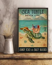 Beach Life Sandy Toes Sea Turtle 11x17 Poster lifestyle-poster-3