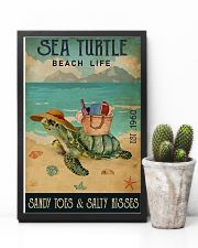 Beach Life Sandy Toes Sea Turtle 11x17 Poster lifestyle-poster-8