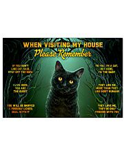 When Visiting My House Black Cat 24x16 Poster front