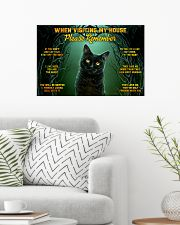 When Visiting My House Black Cat 24x16 Poster poster-landscape-24x16-lifestyle-01