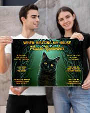 When Visiting My House Black Cat 24x16 Poster poster-landscape-24x16-lifestyle-21
