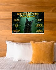 When Visiting My House Black Cat 24x16 Poster poster-landscape-24x16-lifestyle-27