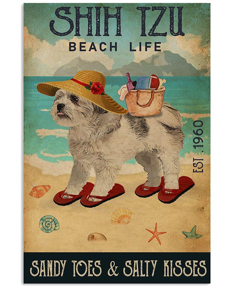Beach Life Sandy Toes Shih Tzu 11x17 Poster