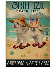 Beach Life Sandy Toes Shih Tzu 11x17 Poster front