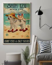 Beach Life Sandy Toes Shih Tzu 11x17 Poster lifestyle-poster-1
