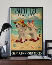 Beach Life Sandy Toes Shih Tzu 11x17 Poster lifestyle-poster-2
