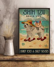 Beach Life Sandy Toes Shih Tzu 11x17 Poster lifestyle-poster-3