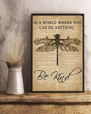 Vintage Dictionary Be Kind Dragonfly 11x17 Poster lifestyle-poster-3