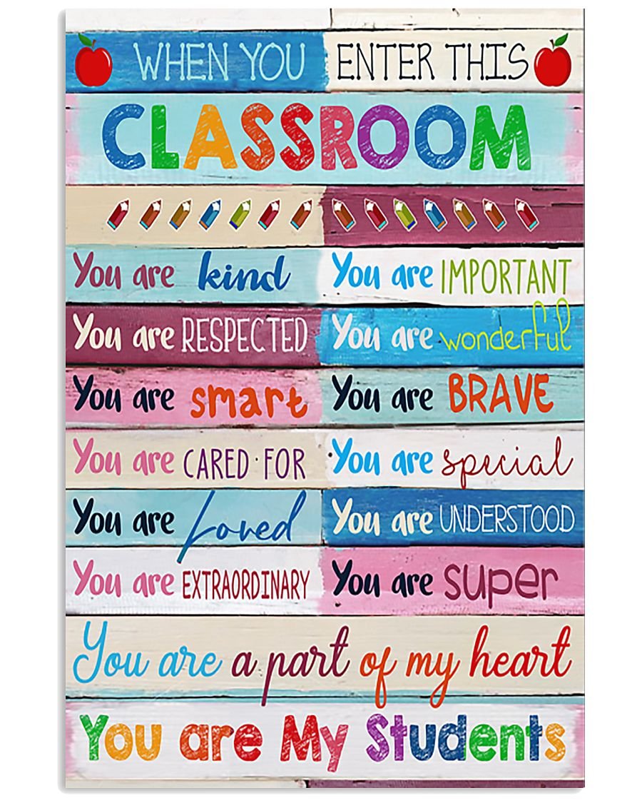 Teacher You Are A Part Of My Heart 11x17 Poster