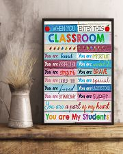 Teacher You Are A Part Of My Heart 11x17 Poster lifestyle-poster-3