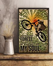 Retro And Into The Forest Mountain Bike 11x17 Poster lifestyle-poster-3