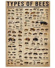 Types Of Bee 16x24 Poster front