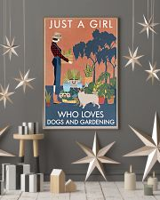 Vintage Just A Girl Loves Gardening And Pug 11x17 Poster lifestyle-holiday-poster-1