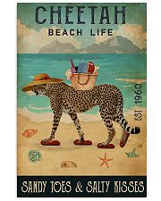 Beach Life Sandy Toes  Cheetah 11x17 Poster front